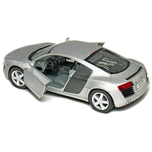 Kinsmart Licensed 5'' Audi R8 Die Cast Car (Silver) - Toyville