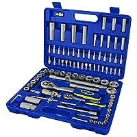 Goodyear 94 Pc Socket Set Professional Tool Kit Metric Ratchet Set Flexi Bar New