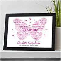 Personalised Christening Gifts for Girls Butterfly Gift Present for Goddaughter Niece Granddaughter Girl Her - A5, A4, A3 Prints and Frames - 18mm Wooden Blocks - FREE Personalisation