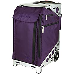 Züca Pro Travel - el maletín sentarse (Royal Purple / Acero inoxidable)