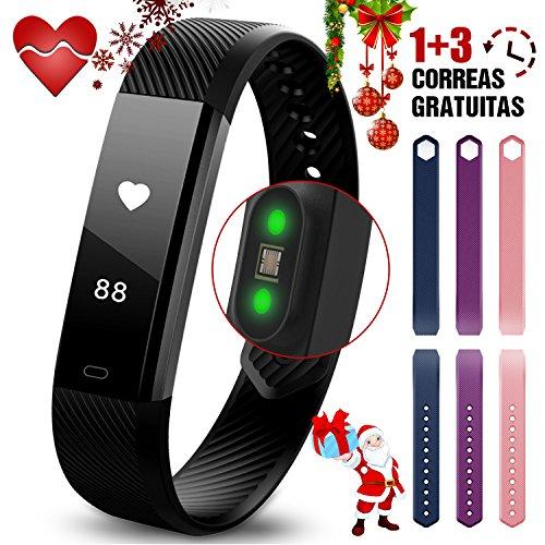 Armband Aktivität miuvei intelligente Armbanduhr mit Herzfrequenz Monitor und Traum, Schrittzähler, Alarm, Alarm Sesshaftigkeit, Meldung von Anrufe/SMS, Bluetooth Kompatibel mit iOS und Android