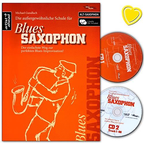 La Escuela Excepcionales para Blues de saxofón (Saxofón Alto)–Camino más sencillo perfecto de Blues Improvisación–Ordenador libro con 2CD y–Partituras 9783866420496