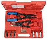 KS Tools 500.1350 - Pack de 20 piezas con alicates para anillos de retención Seeger, con función de carraca