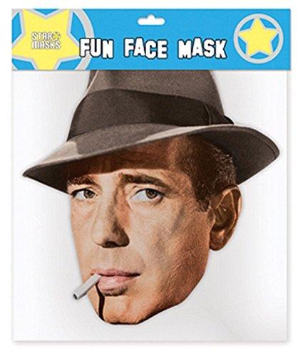 Humphrey Bogart Pappmaske aus hochwertigem Glanzkarton mit Augenlöchern, -