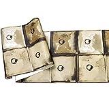 Retrò industriale vento metallo metallo griglia carta da parati Bar Cafe ristorante negozio di abbigliamento sfondo carta da parati, 471304 zenzero giallo, solo carta da parati