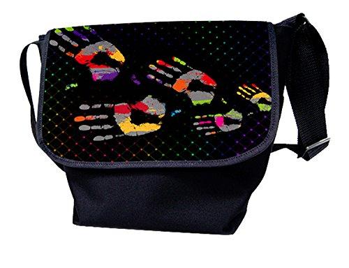 Luxburg®, Borsa a spalla donna multicolore USA Flag Handprints