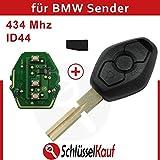BMW 3 Tasten Gehäuse Autoschlüssel HU58 434 Mhz Elektronik Fernbedienung ID44 Neu