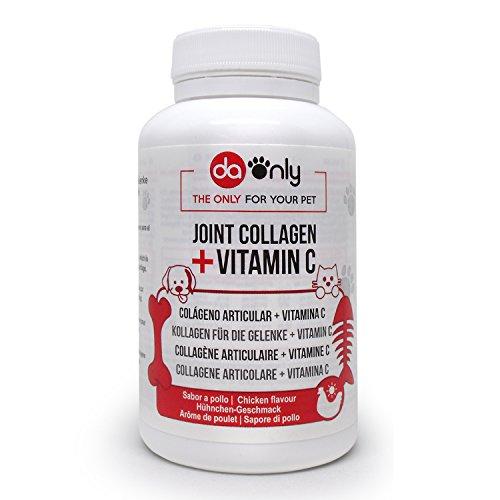 Kollagen Nahrungsergänzungsmittel für Hunde & Katzen, natürliche Alternative von Medikamenten für Haustiere zur Überwindung von Arthrose und Gelenkschmerzen von Hund und Katze, ohne Glucosamin