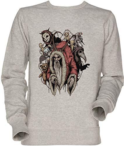 Vendax Krampus 20 Unisex Sweatshirt Grau (Krampus Pullover Weihnachten)