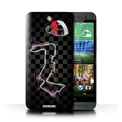 Kobalt® Imprimé Etui / Coque pour HTC One/1 E8 / Italie/Monza conception / Série 2014 F1 Piste Singapour