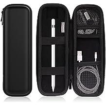 MoKo Apple Pencil Funda - Premium Cubierta de Cuero Imitado / PU Carrying Bag Portada Pouch Cover Case para Apple iPad Pro Pencil / Pen, Samsung Stylus Pen, Surface Pen ect. (Bolsillo & Soporte Incorporados), Negro