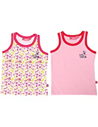 Buzzy Baby Girls' Cotton Top- Pack of 2 (Light Pink)