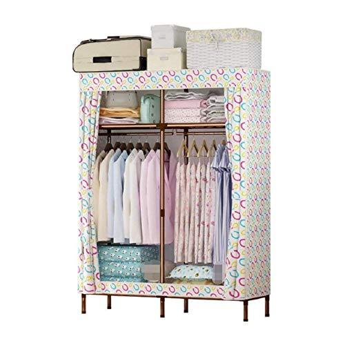 RYP Guo Home Storage Cabinet Startseite Portable Kleidung Closet Kleiderschrank Oxford Tuch Fabric Storage Organizer mit Regalen, 25MM Steel Frame Skelett, leicht zu Montieren Kleiderschrank, A, 51 * (Kleiderschrank Frames)