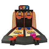 ESPLAY Mini Juego de Disparos de Baloncesto Juguete Educativo Portátil Doble Dedo Juego de Arcade Mesa de Oficina Clásica, 1 Unids para 2 Jugadores