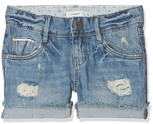 NAME IT Mädchen Shorts NKFROSE DNMTALA 1007 NOOS, Blau Light Blue Denim, 104
