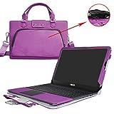 ASUS L402SA L402NA Housse,2 en 1 spécialement conçu Etui de protection en cuir PU + sac portable Sacoche pour 14' ASUS EeeBook L402SA L402NA series ordinateur,Violet