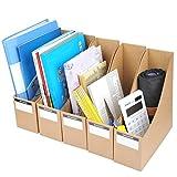 YOTINO 5 Pezzi Portariviste Ufficio A4 in Cartone Portariviste per Documenti Raccoglitore 9 x 26.3 x 27 cm