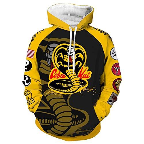 Xxl Kai Cobra Kostüm - Zhangjianwangluokeji Cobra Sweatshirt Cosplay Kostüm Kai Party Karikatur Jacket 3D Print Kapuzenpullover (XXL, Farbe 1)