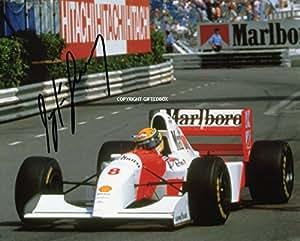 Ayrton Senna Signé édition limitée photo + certificat Formula One F1Imprimé Autographe Signature Signé signiert Mignolet