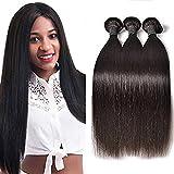 Perstar Brazilian Straight Human Hair Bundles Silky Virgin Weave Extension..