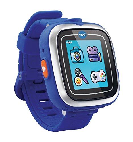 VTech - Kidizoom, SmartWatch 8 in 1, per Bambini, 128 MB, Schermo da 1,44', risoluzione 128 x 128 Pixel, Colore: Blu [Lingua Francese]