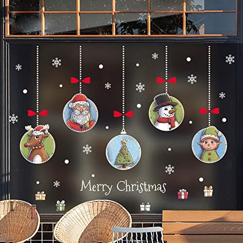 Yzybz Frohe Weihnachten Wandaufkleber Fenster Glas Diy Dekoration Pvc Abnehmbare Neue Jahr Weihnachten Dekor Banner Aufkleber