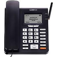 Maxcom - teléfono fijo gsm de escritorio con tarjeta sim función sms (seniors, escritorio...)- mm28d- negro