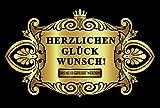 Oblique-Unique® Aufkleber Flaschenetikett Herzlichen Glückwunsch Etikett gold elegant