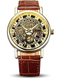 Watch Quartz For Men Open Brown Mens Brown Leather Belt Wrist Watch By Yashish | Watches For Mens Stylish Under...