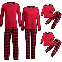 Pijamas Navidad Familia Navideñas Pijama Familiares Manga Larga Hombre Niños Niña Chica Bebe Trajes Navideños Mujeres Noche Homewear Invierno