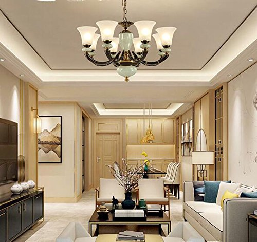 GKJ Retro lampadario cinese, soggiorno camera da letto Lampadario ...
