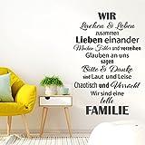 Grandora Wandsticker Wir sind eine tolle Familie I weiß (BxH) 41 x 63 cm I Wandtattoo Wohnzimmer Wandaufkleber Schlafzimmer Flur Aufkleber Sticker W5425