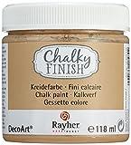 Rayher 38867535 Chalky Finish auf Wasser-Basis, Kreide-Farbe für Shabby-Chic-, Vintage- und Landhaus-Stil-Looks, 118 ml, Taupe-Brown