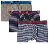s.Oliver Herren Boxershorts 26.899.97.4241, Mehrfarbig (Blue Stripe&Grey Mel. 16b3), XX-Large (Herstellergröße: 8)