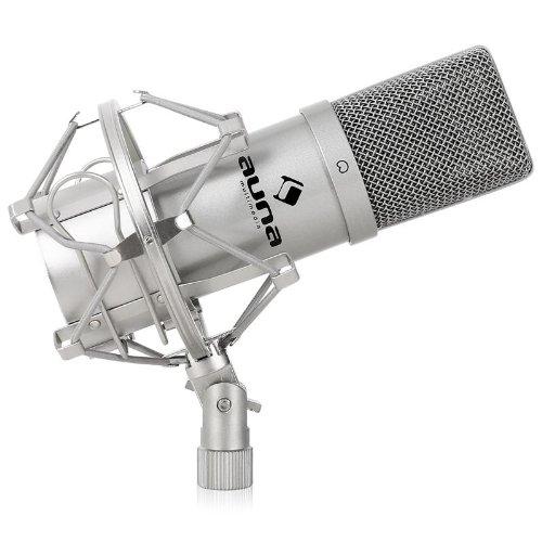 auna MIC-900S micrófono de condensador USB (soporte de araña, Plug &