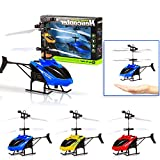 Mini RC Helicopter , Mumusatr Infrared Induction Aircraft Flashing Flashing Flying Drone Toys For Kids Toddlers Adults Outdoor Game Toy
