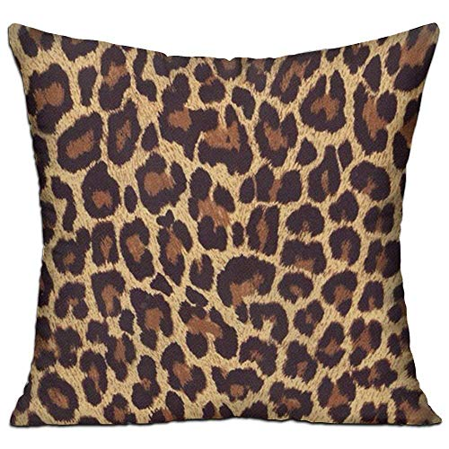 Zhiziqiu Square Pillow Covers Cool Cheetah Leopard Cushion Case For Sofa Bedroom Car Inserts Are Not Included 18 X 18
