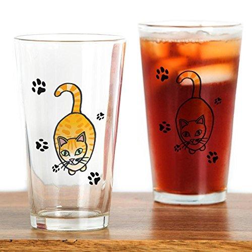 CafePress–Katze–Pint-Glas, 16oz Trinkglas farblos