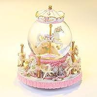 JinRou casa moderna decorazione sfera di cristallo Music Box Creative regalo di compleanno nozze forniture ,rosa