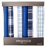Retreez 8 Stück Reine Baumwolle Gemischte Taschentücher für Herren Geschenkset - Gemischte Set 001