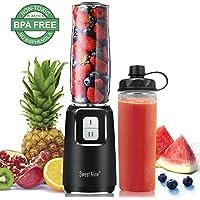 Mini Blender des Smoothies Mixeur pour Milk-shake, Smoothies et jus de fruits et legumes, Mixeur 600ml pour Sport, Voyage et maison, Tritan Sans BPA, 350W, Inox