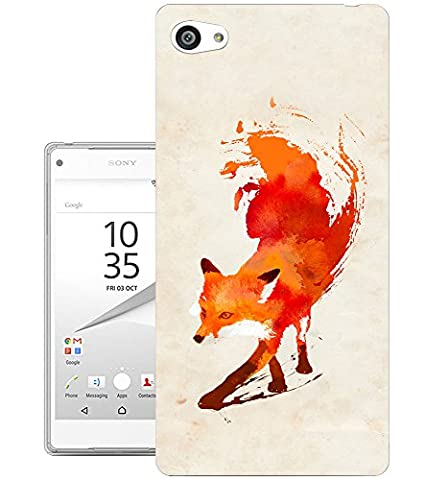 350 - Watercolour Fun Full Fox Design Sony Xperia Z5 Compact Fashion Trend Protecteur Coque Gel Rubber Silicone protection Case Coque