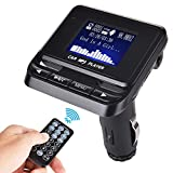 FM Transmitter,Bluetooth KFZ Wireless Radio Adapter mit USB Ladegerät TF-Kartenslot Mikrofon Telefonieren Freisprechfunktion LED-Display für iPhone, iPad, Tablet, Smartphones oder MP3, MP4 Player