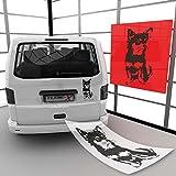 Chihuahua Hundeaufkleber Wandtattoo & Autoaufkleber | A00614 45 - mint matt 17 cm (B) x 35cm (H)