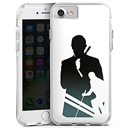 Apple iPhone 7 Plus Bumper Hülle Bumper Case Glitzer Hülle James Bond Filme Bumper Case transparent