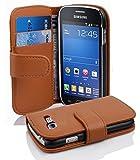 Cadorabo Coque pour Samsung Galaxy TREND LITE Cognac Marron