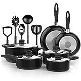 Vremi 15 Piece Nonstick Cookware Set wit...