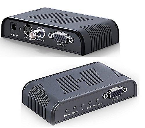 Adattatore Convertitore Video da RCA BNC a Monitor VGA per