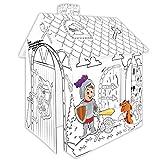Pieghevole DUCKTOYS Bambini Giocare Tenda con Unico Stampato per Uso Interno/Esterno Ragazzo Ragazze Castello Playhouse Gioco