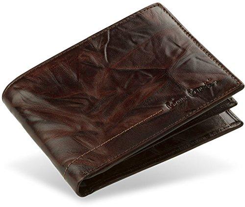 Herren - Brieftasche Pierre Cardin in horizontaler Ausführung 100% Leder (braun) braun